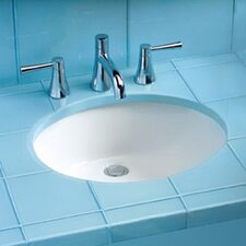 Rendezvous Undermount Bathroom Sink with SanaGloss Glazing