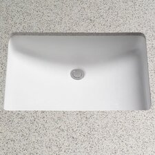Rimless Undermount Bathroom Sink with SanaGloss Glazing