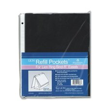 """Refill Pages For Easel Binder, 11""""x8-1/2"""", 50 per Box, Clear"""