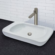 Matt Muenster Exclusive Vitreous China Above Counter Rectangular Lavatory with Rounded Corners