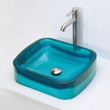 Incandescence Rectangular Vessel Bathroom Sink