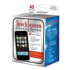 Touch Screen Cleaner,40 Pre-moistened/40 Lint-free Wipes