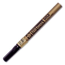 Paint Marker,Fine Point,Water/Fade Proof,Nontoxic,Gold