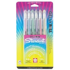 Stardust Gelly Roll Galaxy Assorted Gel Pen (Set of 6)