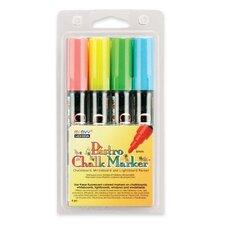 Bistro Chalk Marker, Erasable, Fluorescent RD, BE, GN, YW