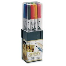 Double-Tip Marker,Medium/Fine Points,Water-Base Ink,Assorted
