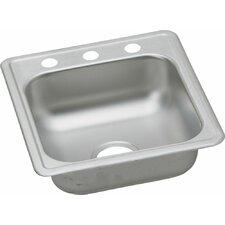 """Dayton 17"""" x 19"""" Top Mount Kitchen Sink"""
