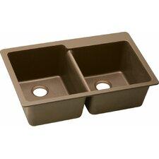 """Gourmet 33"""" x 22"""" E-grantie Kitchen Sink"""