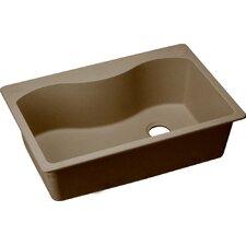 "Harmony 33"" x 22"" Large Single Bowl Top Mount Kitchen Sink"