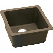 "Gourmet 16.63"" x 16.63"" E-Granite Universal Mount Single Bowl Kitchen Sink"