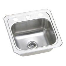 "Gourmet 15"" x 15"" Top Mount Kitchen Sink"