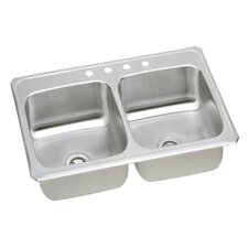 """Celebrity 43"""" x 22"""" Self-Rimming Double Kitchen Sink"""