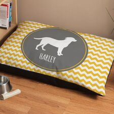 Personalized Labrador Chevron Pattern Dog Bed