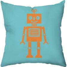 Sweet Robot Throw Pillow