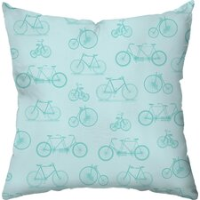 Bicycle Dream Throw Pillow