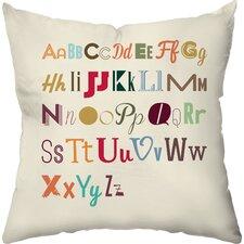 Alphabet Medley Throw Pillow