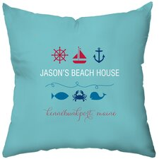 Personalized Beachy Baby Throw Pillow