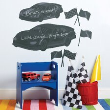 Fast Cars Chalkboard Wall Decal