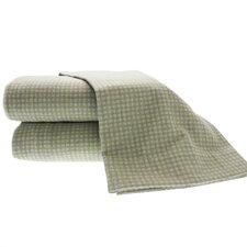 Heather Ground Flannel Gingham Cotton Sheet Set