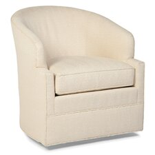 Transitional Swivel Barrel Chair