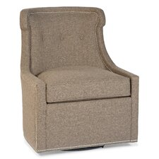 Transitional Swivel Wingback Chair