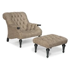 Tufted Sleepy Hollow Chair and Ottoman