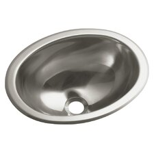 Entertainment No Hole Oval Undermount / Self Rimming Bathroom Sink