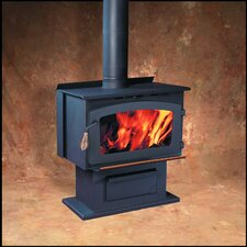 King Pedestal Wood Heater with Ashpan and Blower