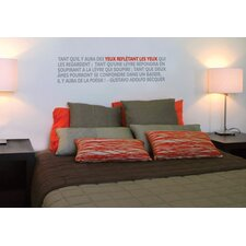 Blabla Poetry Wall Decal