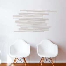 Spot Wooden Slats Wall Decal