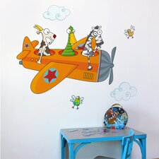 Ludo Friends in Flight Wall Decal
