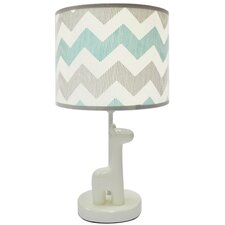 "Uptown Giraffe 20"" Table Lamp Drum Shade"