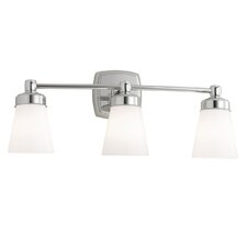 Soft Square 3 Light Bath Vanity Light
