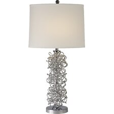 "Mingle 29"" H Table Lamp with Drum Shade"
