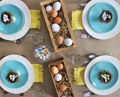 egg centerpiece