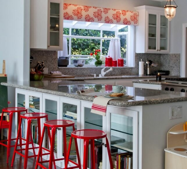 Charming Transitional Kitchen Valances