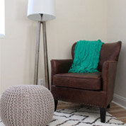 living room pouf