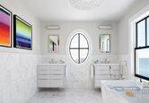 DIY Spa Bathroom on a Dime