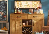 Turn Your Sideboard Into a Home Bar
