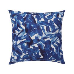 Brushstroke Indigo Pillow