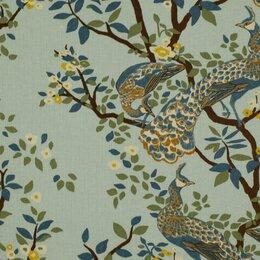 Vintage Plumes Fabric - Jade