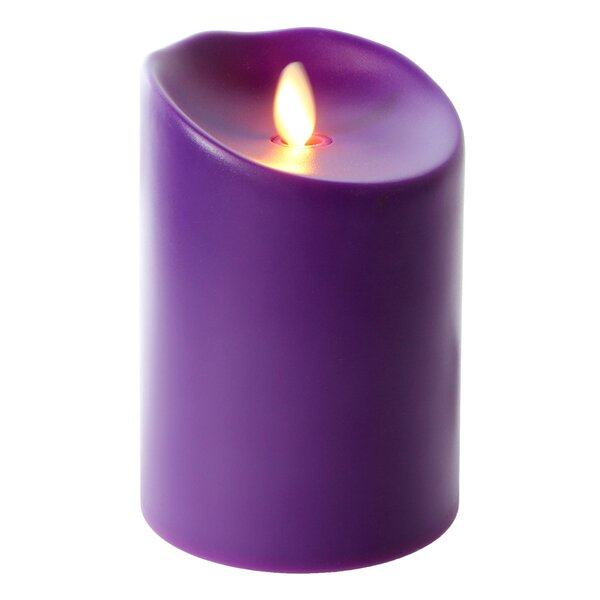 Purple Pillar Candle - Available in several colors
