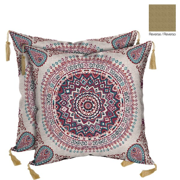 Morocco Berry Reversible Outdoor Throw Pillow