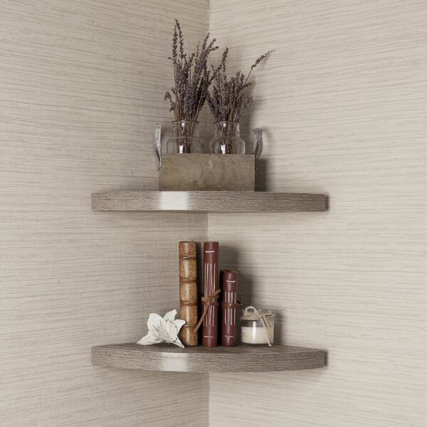 Corner Radial Wall Shelf