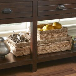 Natural Seagrass Baskets (Set of 3)