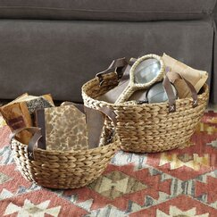 Water Hyacinth Baskets (Set of 2)