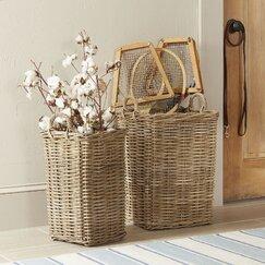 Rattan Bottle Baskets (Set of 2)