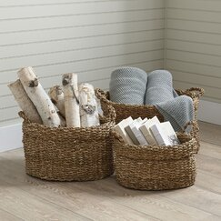 Plymouth Seagrass Oval Baskets (Set of 3)