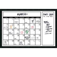Mezzanotte Dry-Erase Calendar Whiteboard, 2' H x 3' W