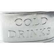 Kindwer Galvinize Cold Drinks Oval Tub